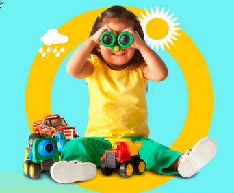 Витрина игрушек для мальчиков и девочек
