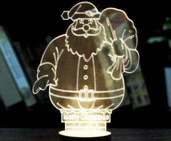 Эксклюзивные 3D-светильники - Санта Клаус