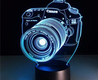 Эксклюзивные 3D-светильники - фотоаппарат