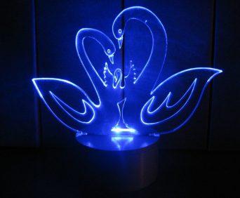 Эксклюзивные 3D-светильники - лебеди