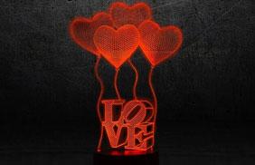 Эксклюзивные 3D-светильники - love