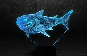 Эксклюзивные 3D-светильники - акула