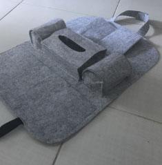 Органайзер для авто крепится на спинку переднего кресла