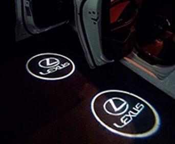 Дверная подсветка с логотипом авто - Lexus