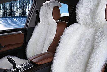 Меховая накидка на автокресло - овечья шерсть греет зимой и сохраняет прохладу летом