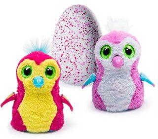 Hatchimals - интерактивная игрушка - красный и розовый птенцы