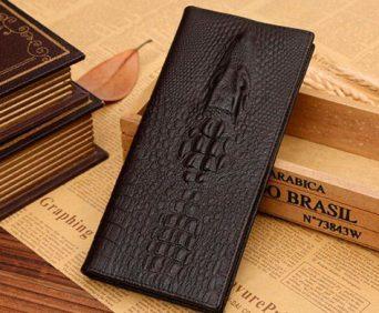 Стильные часы и Портмоне в подарок - портмоне из натуральной кожи