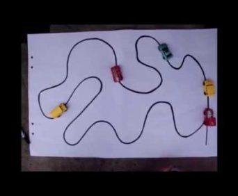 Inductive car - инновационная игрушка - трасса