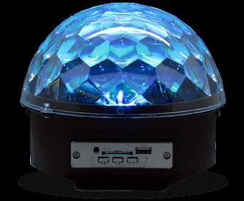 Магический шар лампа-проигрыватель синий