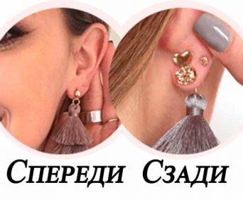 Зажим-корректор для ушей вид спереди и сзади