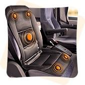 Накидка на сиденье с подогревом - места нагревательных элементов