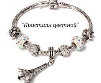 Браслет Pandora с шармами цветной