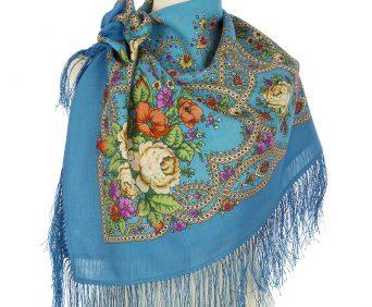 Павлопасадские платки (голубой)