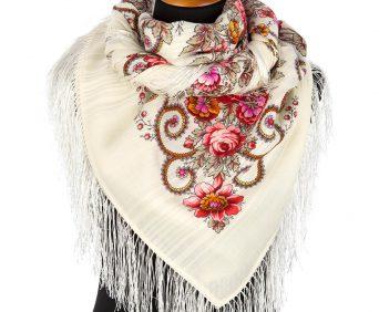 павлопасадские платки (белый, токая шерсть)