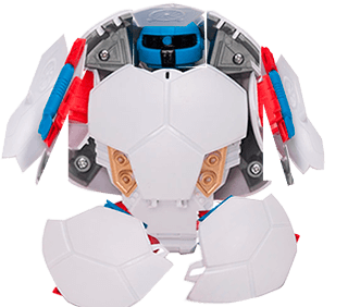 Игрушка робот-мячик - этап трансформации