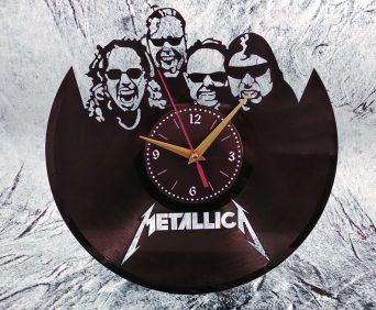 Часы из виниловых пластинок - рок звезды