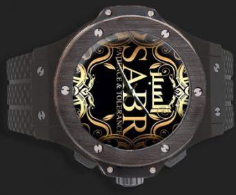 Часы SABR BigBang black из нержавеющей стали