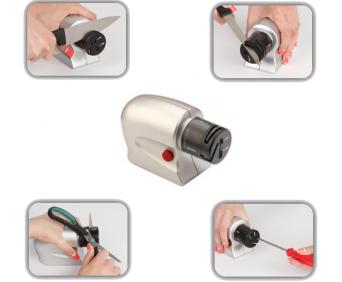 Электроножеточка «Острые грани» - как затачивает разные лезвия
