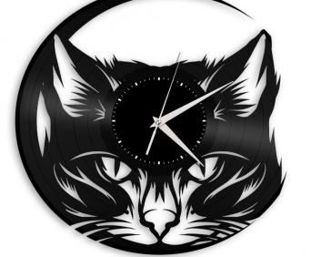 Часы из виниловых пластинок - животные