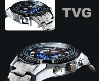 Армейские часы tvg - стальной корпус и ремешок