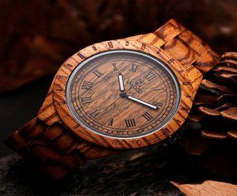 Часы из дерева и очки в подарок